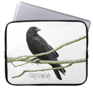 Señora loca Laptop Sleeve del cuervo Mangas Computadora