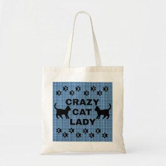 Señora loca linda Reusable Fabric Bags/totes del Bolsas De Mano