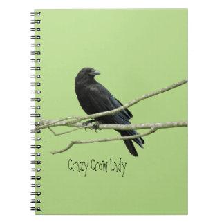 Señora loca Notebook del cuervo