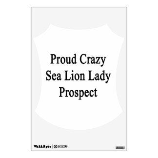 Señora loca orgullosa Prospect del león marino Vinilo Adhesivo