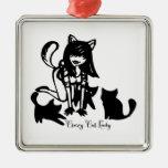 Señora loca Ornament del gato Ornamento Para Reyes Magos