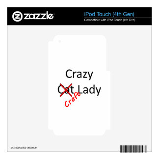 señora loca .png del arte calcomanías para iPod touch 4G