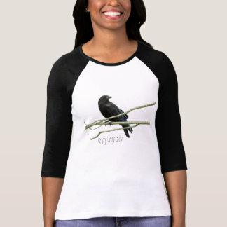 Señora loca Shirt del cuervo Poleras