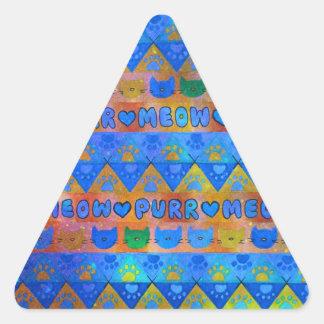 Señora loca TRIBAL GALÁCTICA Aztec Pattern del Colcomanias Trianguladas