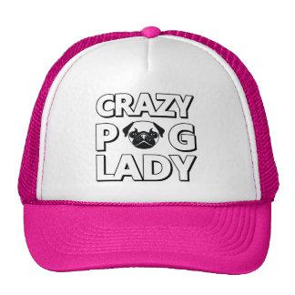 Señora loca Typography Graphics Trucker Hat del Gorra