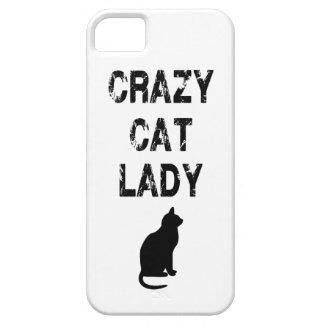 Señora loca vertical Design del gato Funda Para iPhone SE/5/5s
