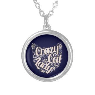 Señora loca Vintage Kitty del gato Collar