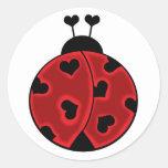 Señora Love Bug Stickers Pegatina Redonda