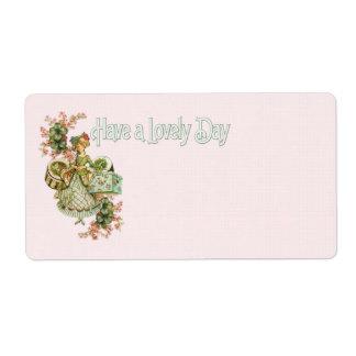 Señora Lovely Day All-purpose Label de la caja del Etiquetas De Envío
