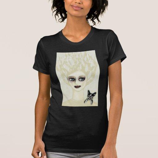 Señora Lovely del vintage de Boston Terrier Camiseta