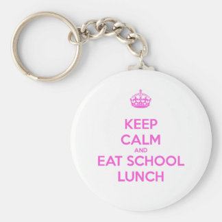 Señora Loves Nutrition del almuerzo escolar Llavero Redondo Tipo Pin