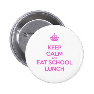 Señora Loves Nutrition del almuerzo escolar Pin Redondo De 2 Pulgadas
