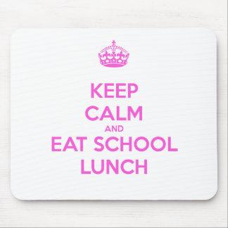 Señora Loves Nutrition del almuerzo escolar Tapetes De Raton