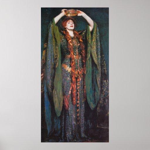 Señora Macbeth, por John Singer Sargent Póster
