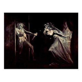 Señora Macbeth Receives The Daggers, señora Macbet Postales