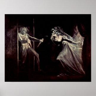 Señora Macbeth recibe las dagas de Henry Fuseli Poster