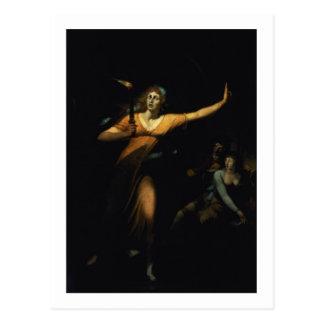 Señora Macbeth Sleepwalking, 1783 (aceite en lona) Tarjetas Postales