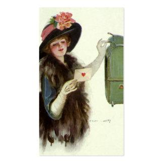 Señora Mail Letter del Victorian del el día de San Tarjetas De Visita