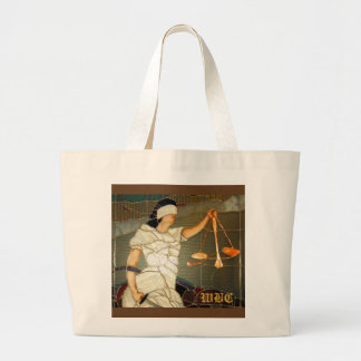 Señora majestuosa Justice en diseño del vitral Bolsa Lienzo