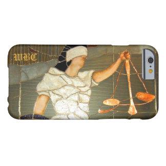 Señora majestuosa Justice Portrait en vitral Funda De iPhone 6 Barely There