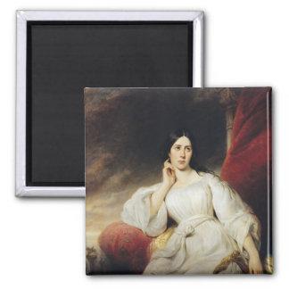 Señora Malibran en el papel de Desdemona, 1830 Imán Cuadrado