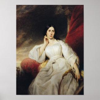 Señora Malibran en el papel de Desdemona, 1830 Póster