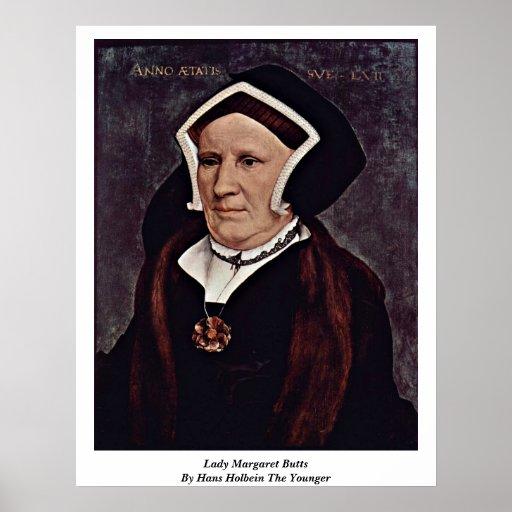 Señora Margaret Butts By Hans Holbein el más joven Posters