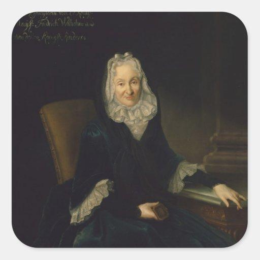 Señora Marte de Rocoulle, c.1735 Colcomanias Cuadradas Personalizadas