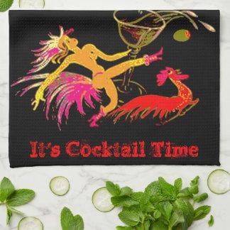 Señora Martini Rooster Cocktails Bar del baile del Toallas