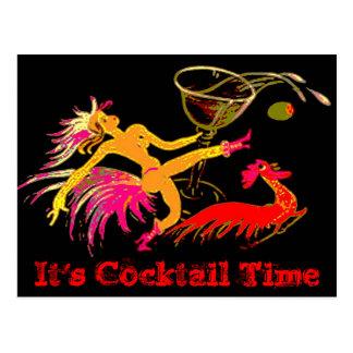 Señora Martini Rooster Cocktails Bar del baile del Postal