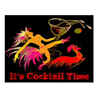 Señora Martini Rooster Cocktails Bar del baile del Postales