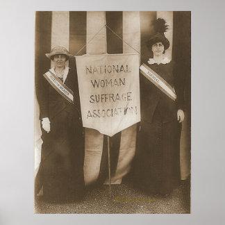 Señora McCormick de las sufragistas y señora Parke Póster