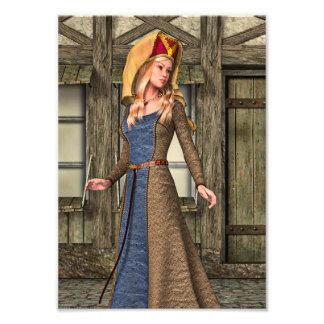 Señora medieval fotografía
