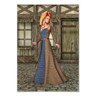 Señora medieval cojinete