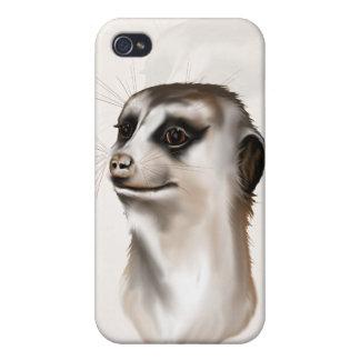 Señora Meerkat Hard Shell iPhone 4 Fundas