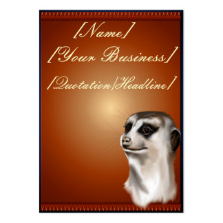 Señora Meerkat profilecard_chubby_vertical, Tarjetas De Visita Grandes
