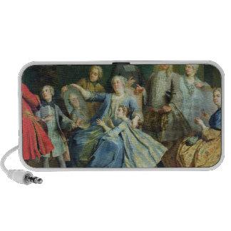 Señora Mercier Surrounded de su familia, 1731 PC Altavoces