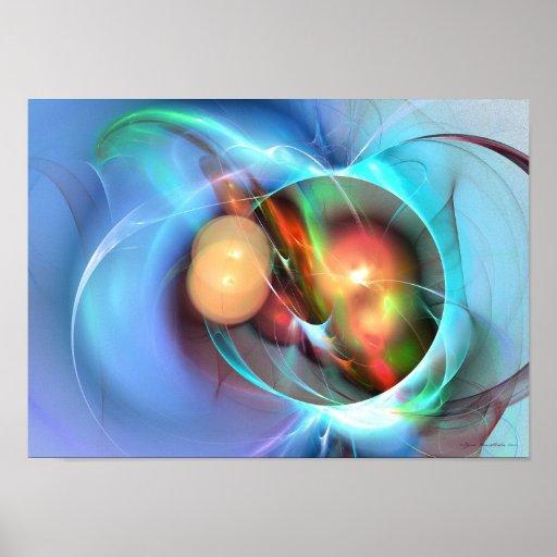 Señora Miller - arte del fractal Poster