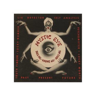 Señora mística Occult Hypnotic Retro Odd del ojo d Impresiones En Madera
