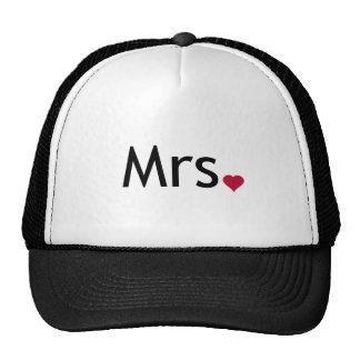 Señora - mitad de Sr. y señora sistema Gorros Bordados