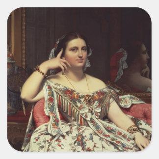 Señora Moitessier, 1856 Pegatina Cuadrada