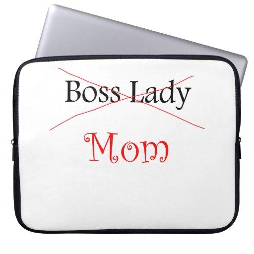 Señora Mom de Boss Funda Computadora