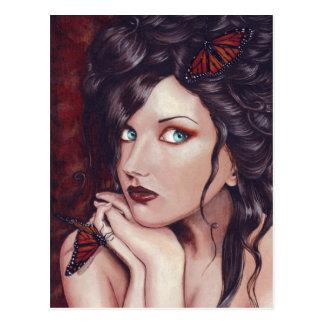 Señora Monarch Postcard Postales