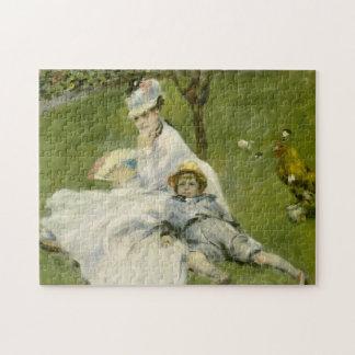 Señora Monet y su bella arte del hijo Puzzle