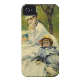 Señora Monet y su hijo de Auguste Renoir Funda Para iPhone 4