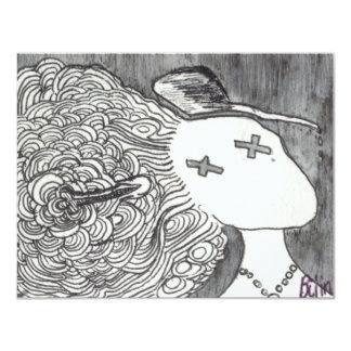 Señora muerta de la impresión 2 del arte de Bijini Invitación 10,8 X 13,9 Cm