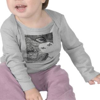 Señora muerta de la impresión 2 del arte de Bijini Camisetas