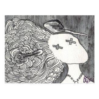 Señora muerta de la impresión 2 del arte de Bijini Postal