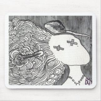 Señora muerta de la impresión 2 del arte de Bijini Tapetes De Raton