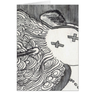 Señora muerta de la impresión 2 del arte de Bijini Tarjeta